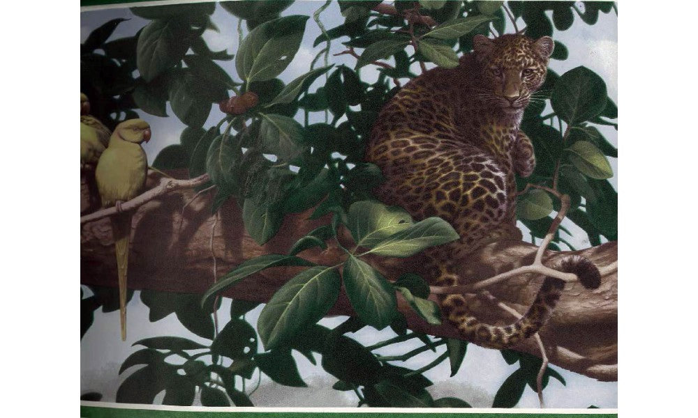 Panther on Tree HB2077 Wallpaper Border