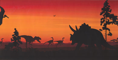 Prehistory Dawn Dinosaurs Pterodactyls KP1232MB Wallpaper Border