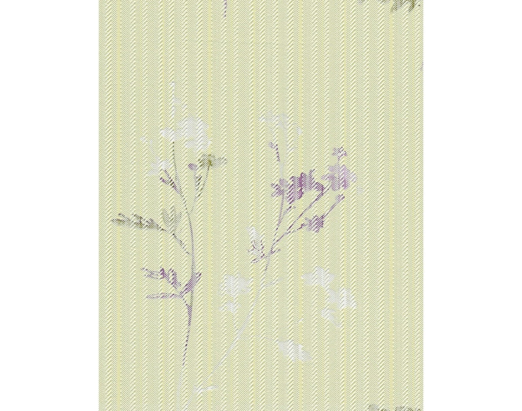 Slashed Stripes Floral Motifs Green Purple 933331 Wallpaper