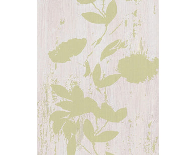 Floral Stripes Green Beige 933812 Wallpaper