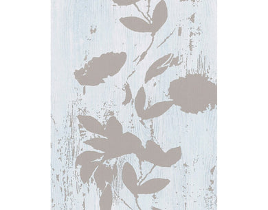 Floral Stripes Blue Grey 933829 Wallpaper
