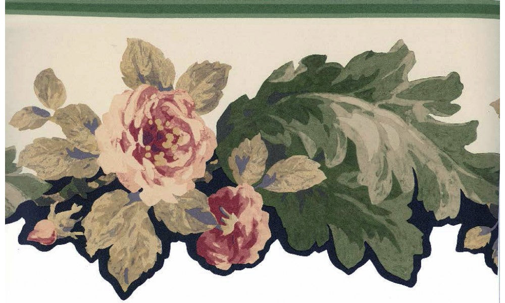 Die Cut Victorian Roses CT77647 Wallpaper Border