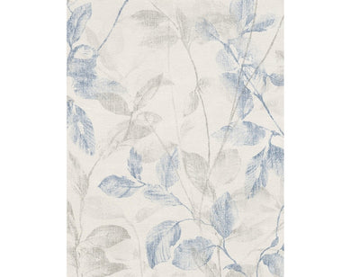 Leaf Trail Blue Grey 938923 Wallpaper