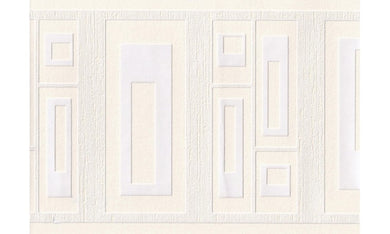 Cream Emboss Squares 94290 Wallpaper Border
