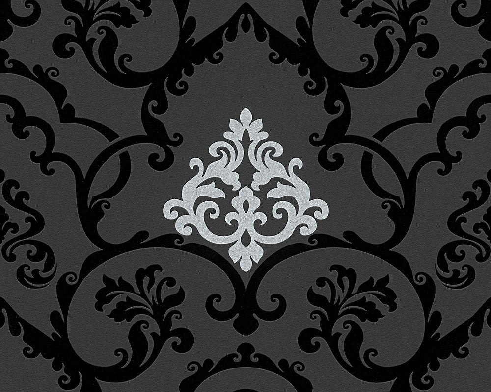 Metallic Black Black & White 3 955381 Wallpaper