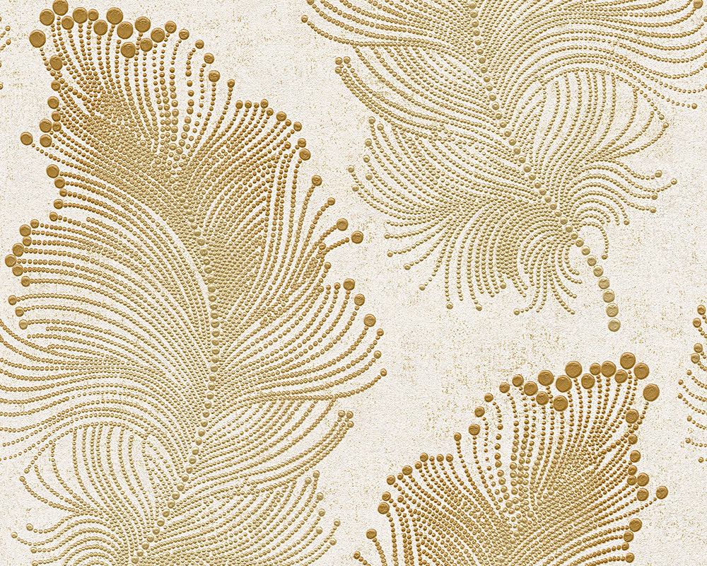 Metallic White Bohemian Burlesque 960452 Wallpaper
