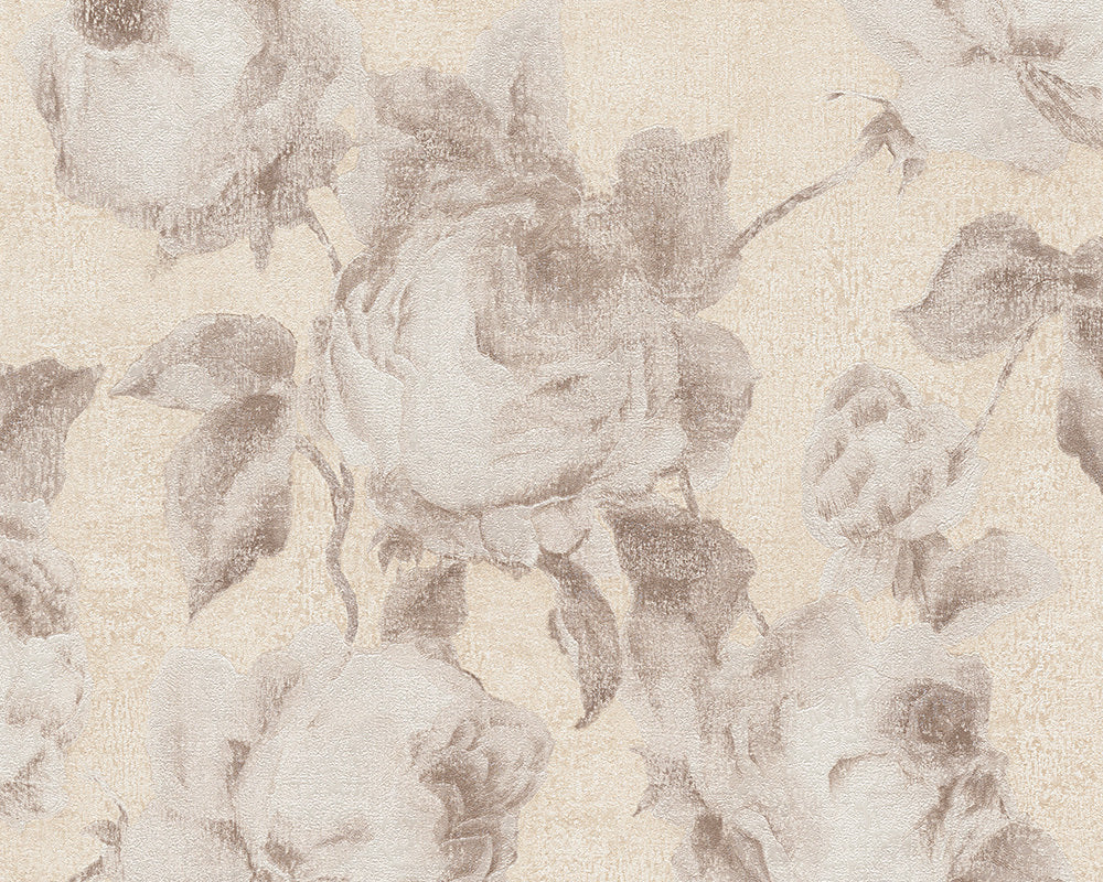 Beige Cream Bohemian Burlesque 960504 Wallpaper