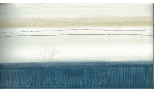 Green White Dark Blue Groove CT78184B Wallpaper Border