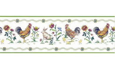 Roosters 5808345 Wallpaper Border