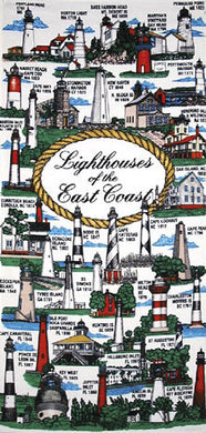 Lighthouse Velour Beach Towel