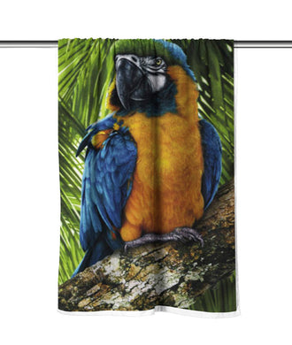 Tropical Bird Velour Beach Towel