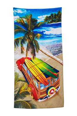 Surf Trip Velour Beach Towel