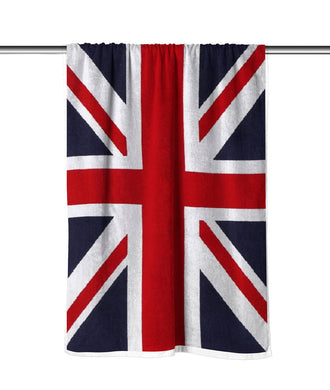 United Kingdom Flag Velour Beach Towel