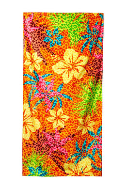 Fashion Hibiscus Velour Beach Towel