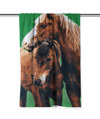 Country Horses Velour Beach Towel