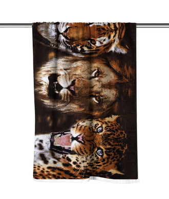 Felines II Velour Beach Towel