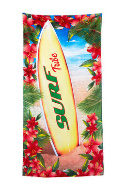 Surf Board Tribe Velour Beach Towel