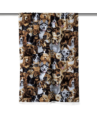 Dogs Multi Breed Velour Beach Towel