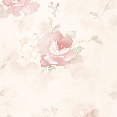 Antique Pink Floral Watercolor AB27661 Wallpaper