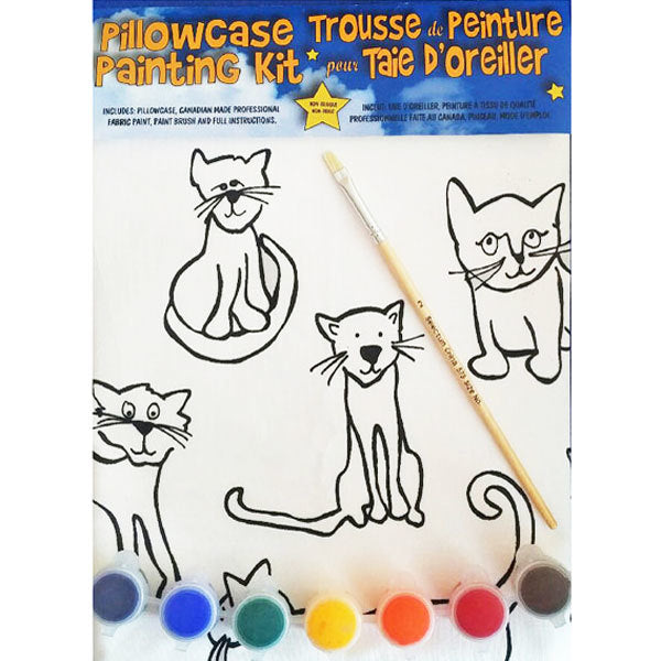 Cats Painting Kit Pillowcase