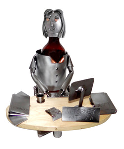Attorney Female Desk Wine Bottle Holder