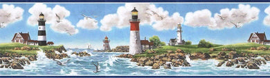 Nautical Lighthouse TA39005B Wallpaper Border