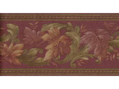 Leaves B6623 Wallpaper Border
