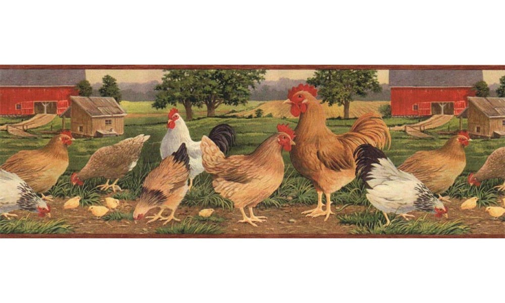 Roosters AFR7106 Wallpaper Border