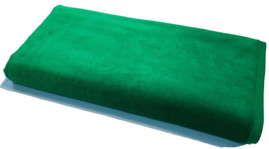 Green Solid Velour Extra Long Beach Towel
