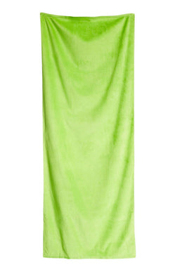 Lime Solid Velour Extra Long Beach Towel