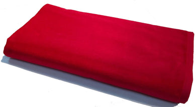 Warm Red Solid Velour Extra Long Beach Towel