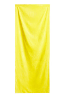 Neon Yellow Solid Velour Extra Long Beach Towel