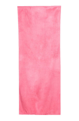 Fresh Pink Solid Velour Extra Long Beach Towel