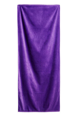 Purple Solid Velour Extra Long Beach Towel