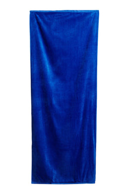 Cobalt Terry Solid Velour Beach Towel