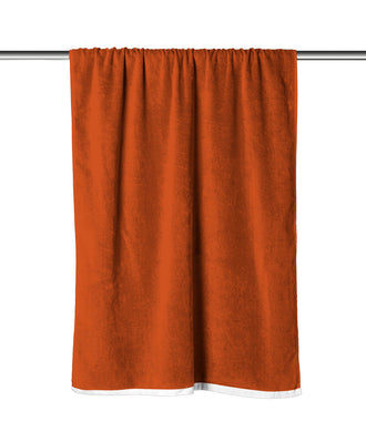 Orange Solid Velour Extra Long Beach Towel