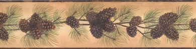 Pine Cones Needles on Branch BG1669BD Wallpaper Border