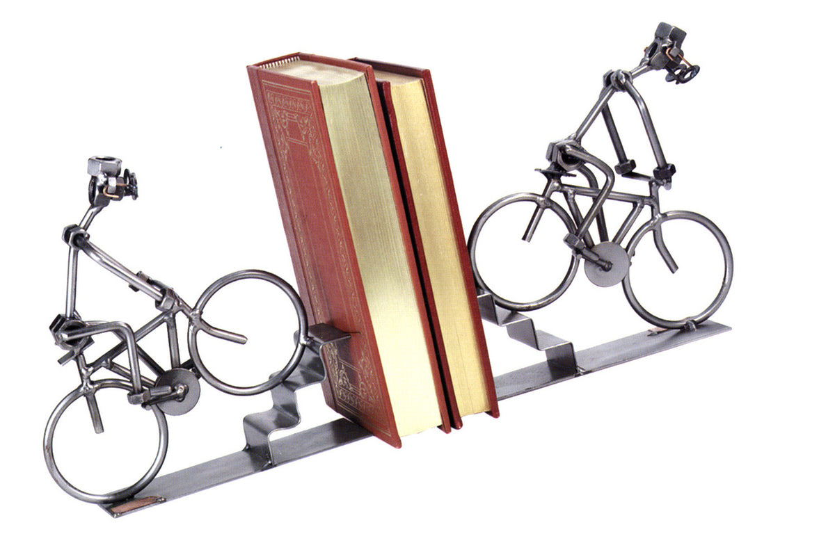 Bike Book Ends-Nuts and Bolts Sculpture