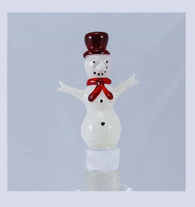 White Snowman Hand Crafted Bottle Stopper
