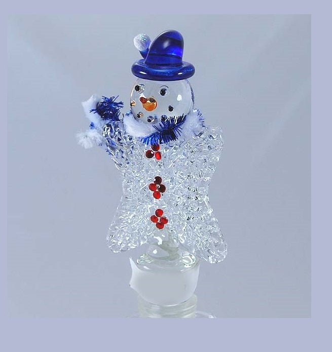 Silver Snowman Hand Crafted Bottle Stopper