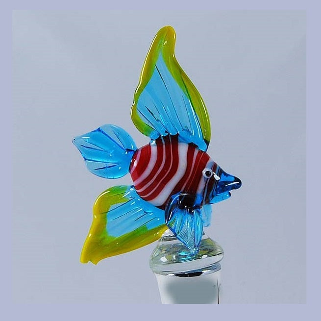 Blue Tropical fish Hand Crafted Bottle Stopper