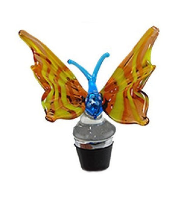 Olive Butterfly Hand Crafted Bottle Stopper