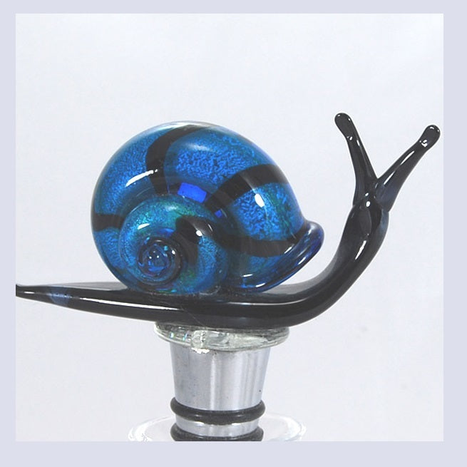 Blue Snail Hand Crafted Bottle Stopper