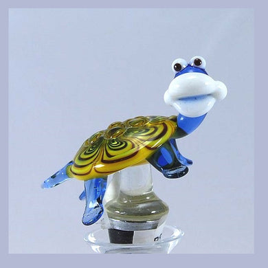 Yellow Turtle Hand Crafted Bottle Stopper