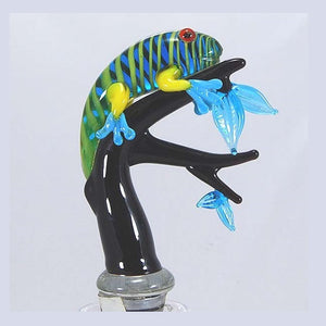 Black Iguana Hand Crafted Bottle Stopper