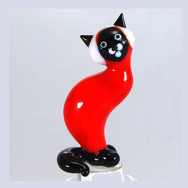 Red Cat Hand Crafted Bottle Stopper