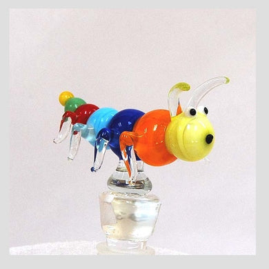Orange Caterpillar Hand Crafted Bottle Stopper