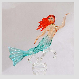 Teal Mermaid Hand Crafted Bottle Stopper