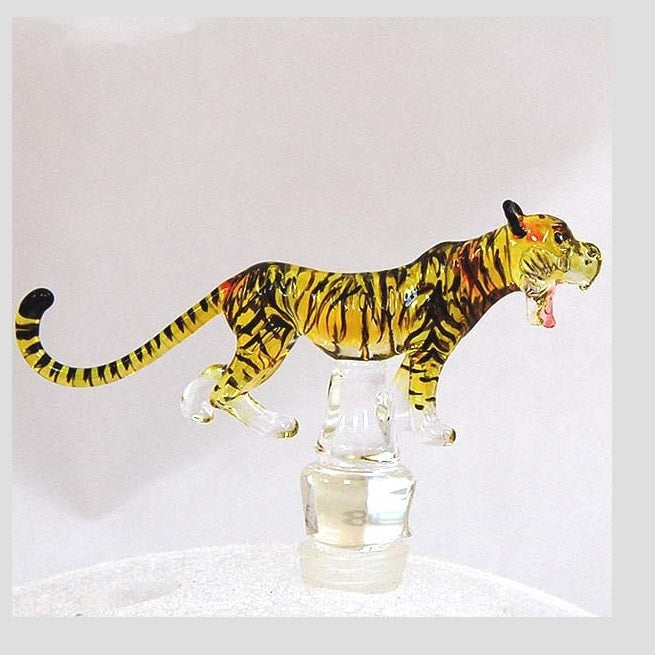 Yellow Tiger Hand Crafted Bottle Stopper