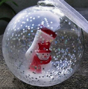 Snowman Stocking Hand Blown Christmas Ornament